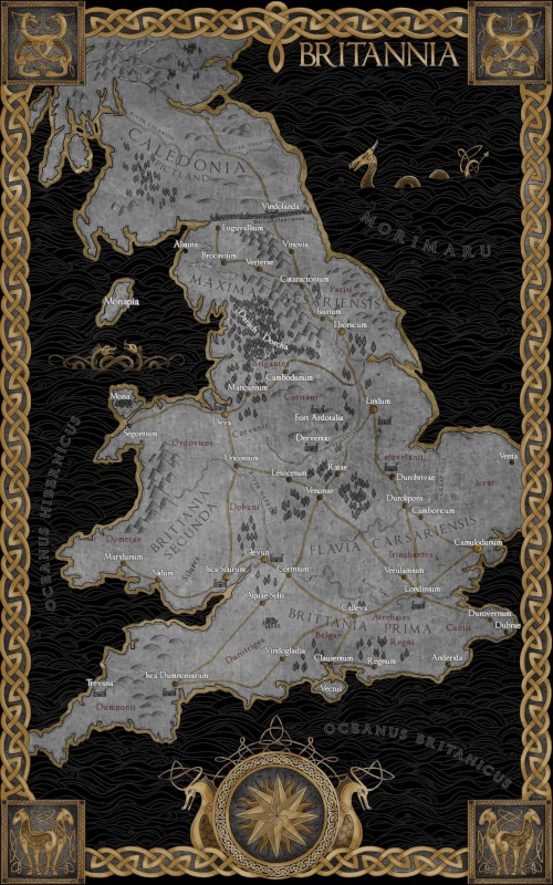 King Arthur - Map of Britannia